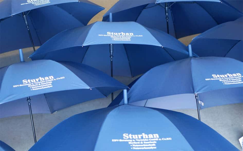 Regenschirme für EDV Sturhan
